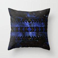 Blue Stellar Dust Throw Pillow