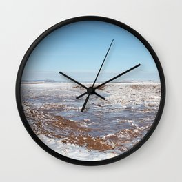 Snow on the Bay of Fundy Wall Clock