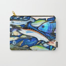 DEEP SALTWATER FISHING COLLAGE Carry-All Pouch