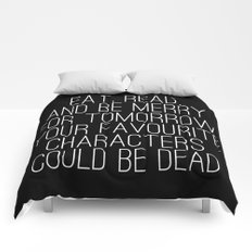 Eat, Read, and be Merry... (inverted) Comforters