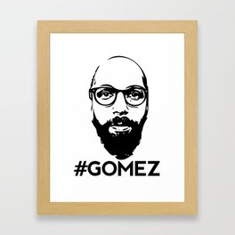 Gomez - Black Framed Art Print