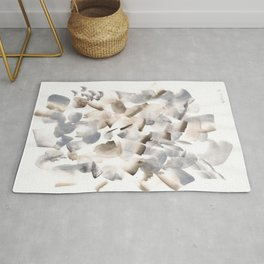 180630 Grey Black Brown Neutral Abstract Watercolour 9  | Watercolor Brush Strokes Rug