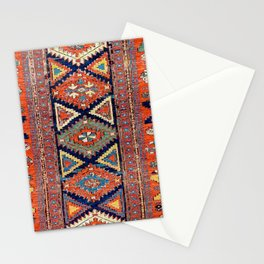Southwestern Farmhouse II // 19th Century Colorful Red Yellow Blue Green Aztec Farm Stars Pattern Stationery Cards