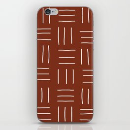 Rust Mudcloth iPhone Skin