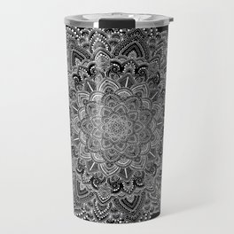 White lace Mandala Travel Mug