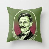 lincoln Throw Pillows featuring Lincoln by Esteban Ruiz