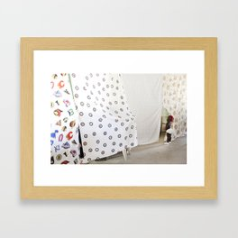 Peek-a-boo baby Framed Art Print