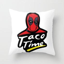 Taco Time Throw Pillow