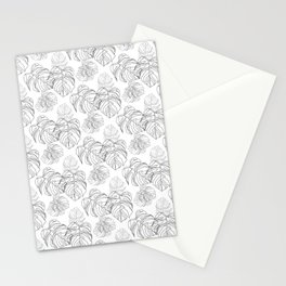 """"""" Botanical Collection """" - Monstera Pattern Stationery Cards"""