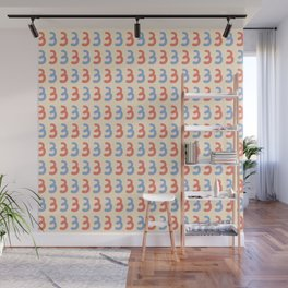 Cute Number Three Pattern Wall Mural