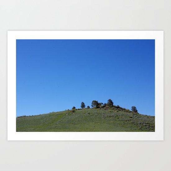 Horizon Blue Art Print