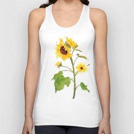 One sunflower watercolor arts Unisex Tank Top