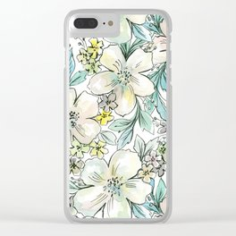 PASTEL FLORALS Clear iPhone Case