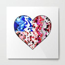 American Heart - Geometric Abstract Metal Print