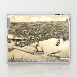 Vintage Pictorial Map of Duluth MN (1883) Laptop & iPad Skin