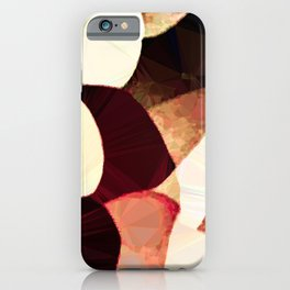 Baroque Burgundy Copper Ivory Maximum Abstract Art iPhone Case