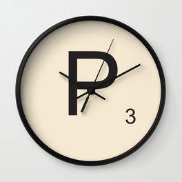 Scrabble P Wall Clock