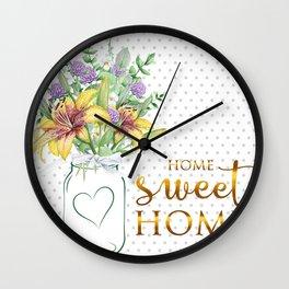 Mason Jar #2 Wall Clock