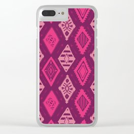 Pink Tribal Print Clear iPhone Case