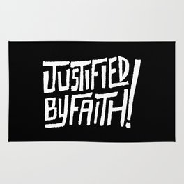 Justified by Faith! Rug