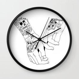Ziam Hand Tattoos Wall Clock