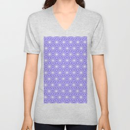 Cold Lilac Geometric Flowers and Florals Isosceles Triangle Unisex V-Neck