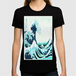 the great wave : aqua teal T-shirt