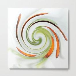 Lily stamen twirled Metal Print