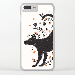 Dogs of Fall - Orange Palette Clear iPhone Case