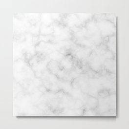 Marble White Texture Metal Print