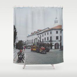 Train is coming Shower Curtain