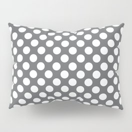 White on gray polka dots Pillow Sham