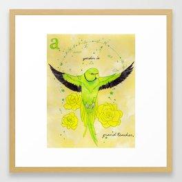 """""""A garden is a grand teacher."""" Framed Art Print"""