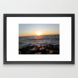Sunset over Cape May Framed Art Print