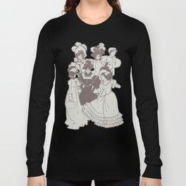 Vintage Ladies APRICOT / Vintage illustration redrawn and repurposed Long Sleeve T-shirt