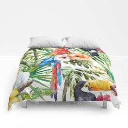 Tropical Bird Pattern 06 Comforters