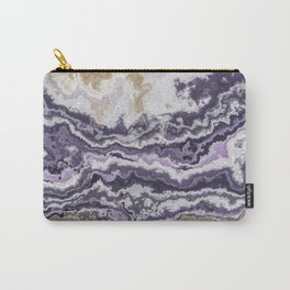 Purple and ochre marble texture Carry-All Pouch