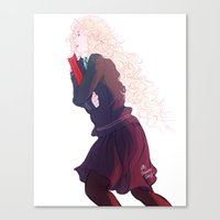 luna lovegood Canvas Prints featuring Luna Lovegood by mypabulousscarf