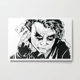 Joker (Heath Ledger)  Metal Print