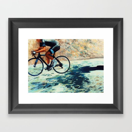 Creeping Shadow Framed Art Print