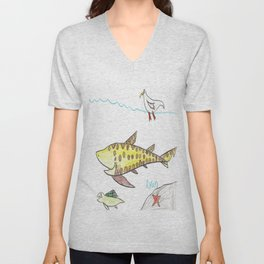 Varied Sea Life Unisex V-Neck