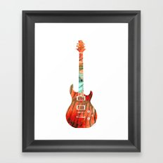 Electric Guitar 2 - Buy Colorful Abstract Musical Instrument Framed Art Print