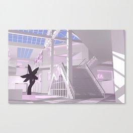 Temple / 1 / Vaporwave Mall Canvas Print
