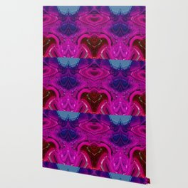 Abstract Digital Design - Purple Wave Wallpaper