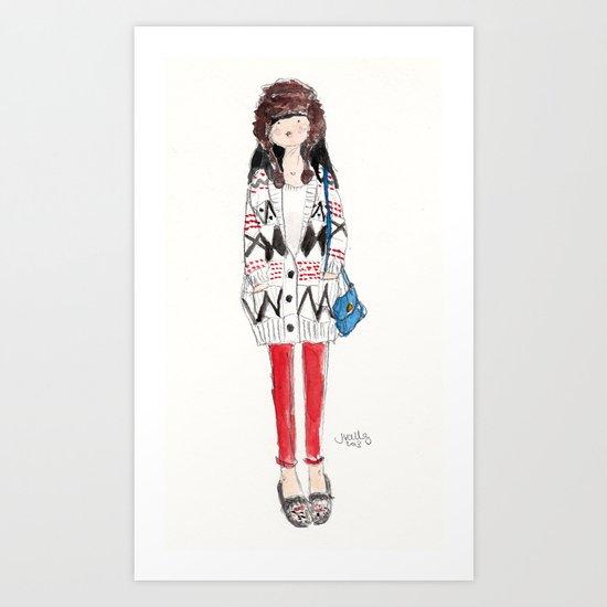 TRAPPER Art Print