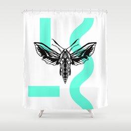 LAGOON MOTH Shower Curtain