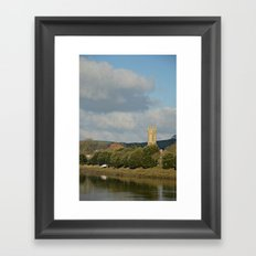 church with view  Framed Art Print