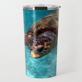 Loggerhead turtle Travel Mug