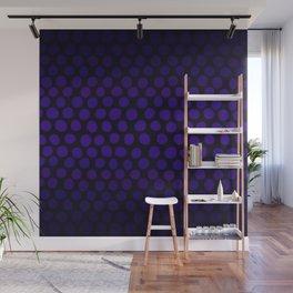 Purple Eggplant Ombre Dots Wall Mural