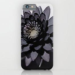 Black Lotus Watercolor Digital Art 3 iPhone Case